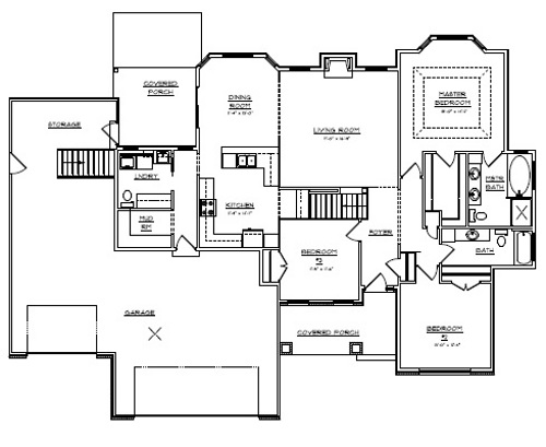 Schmidt bros custom homes floor plans for Custom home floor plans with basement