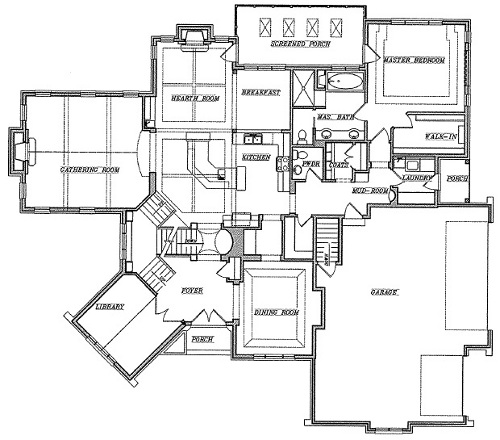 Schmidt bros custom homes floor plans for House plans with side entry garage